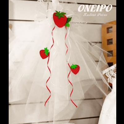 Χειροποίητη Λαμπάδα με θέμα τις φράουλες