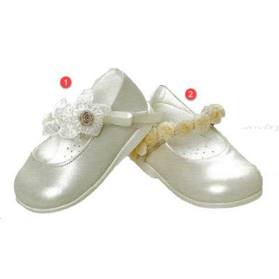 Βαπτιστικό παπουτσάκι χρυσό-ασημί, περπατήματος, ανατομικά