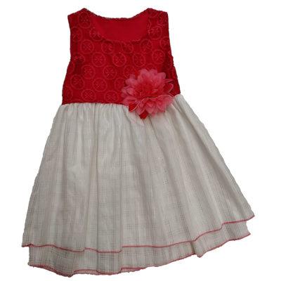 Φόρεμα κοραλί λουλούδι