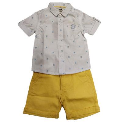 Σετ πουκάμισο / κίτρινη βερμούδα New College