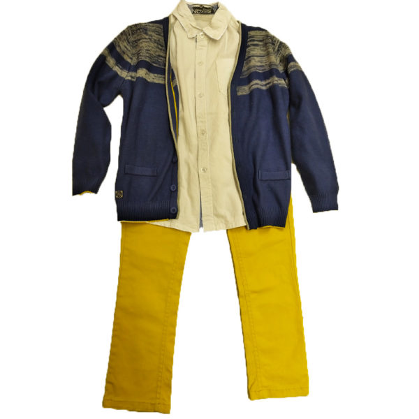 Σετ 3τμχ με κίτρινο παντελόνι