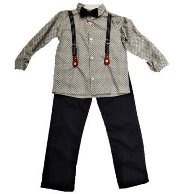 Σετ πουκάμισο με τιράντες και παντελόνι