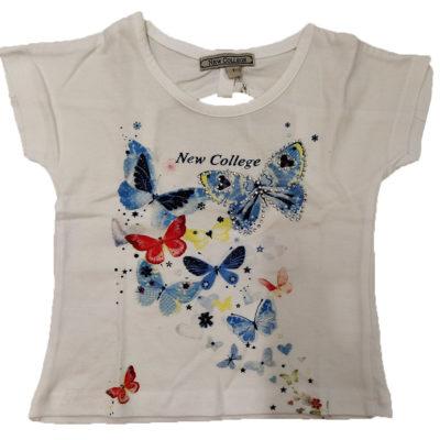 Μπλούζα με πεταλούδες με ανοιχτή πλάτη New College