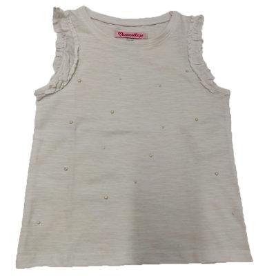 Μπλούζα λευκή με πέρλες New College