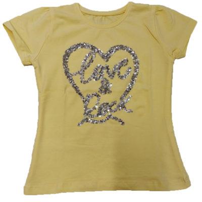 Μπλούζα κίτρινη love