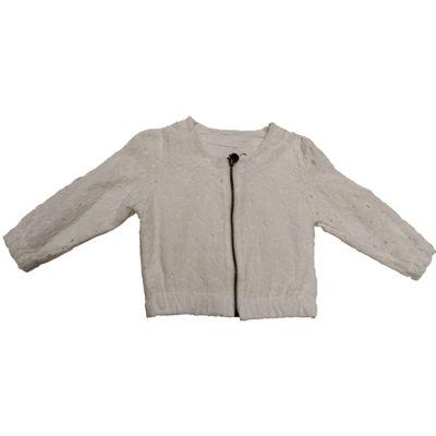 Ανοξιάτικο μπουφάν λευκό με φερμουάρ New College