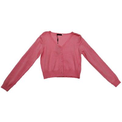 Ζακετάκι κοντό ροζ