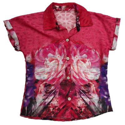 Εμπριμέ κοντομάνικο πουκάμισο New College