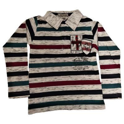 Μπλούζα με γιακά ριγέ New College