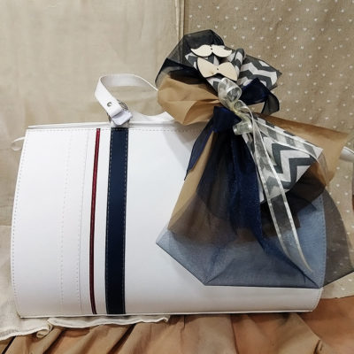 Βαλίτσα - Τσάντα με ρίγες