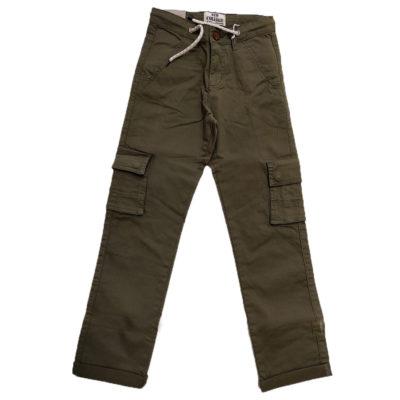Παντελόνι χακί με τσέπες New College