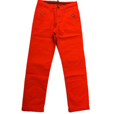 Παντελόνι πορτοκαλί με σχεδιάκι New College