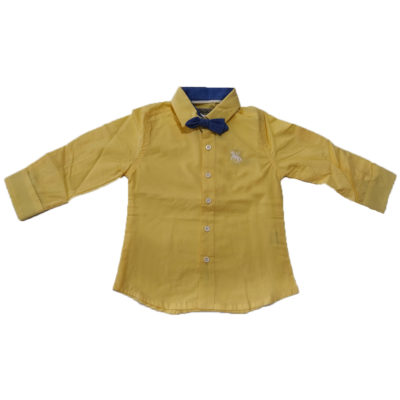 Πουκάμισο κίτρινο με παπιγιόν New College