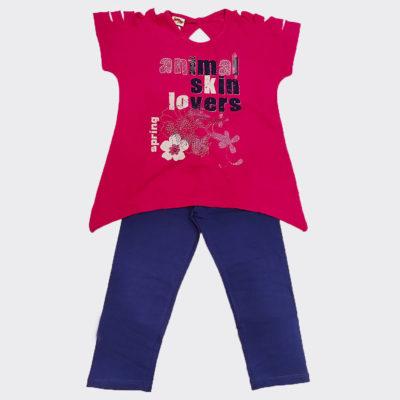 Μπλουζοφόρεμα με σκισίματα φουξ της εταιρείας spring