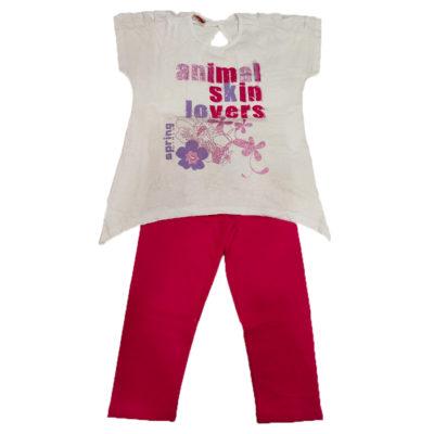 Μπλουζοφόρεμα με σκισίματα λευκό της εταιρείας spring