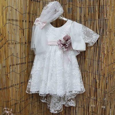 Βαπτιστικό φόρεμα με ουρά Castolino