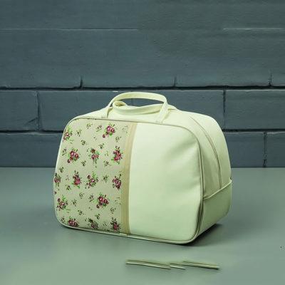 Βαλίτσα μαλακή με λουλούδια Nuova Vita