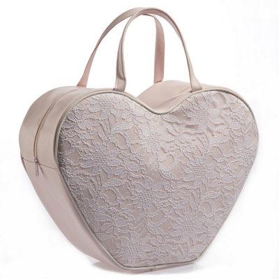 Βαλίτσα μαλακή σε σχήμα καρδιάς δαντέλα Nuova Vita