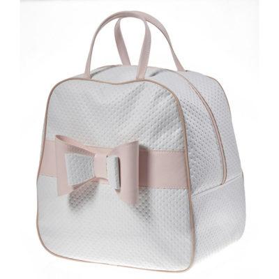 Βαλίτσα μαλακή λευκή με φίογκο Nuova Vita