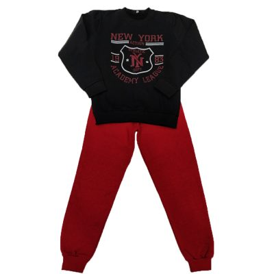 Φόρμα New York μαύρο-κόκκινο