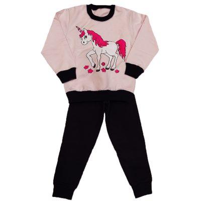 Φόρμα μονόκερος ροζ κουφετί