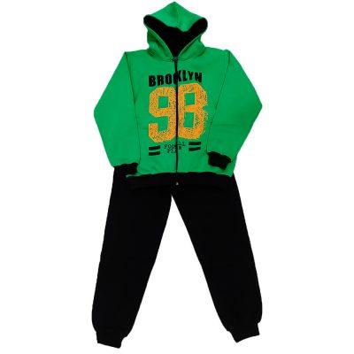 Φόρμα με ζακέτα πράσινη-μαύρο της εταιρείας spring