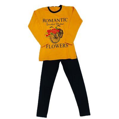 Μπλουζοφόρεμα romantic κίτρινο