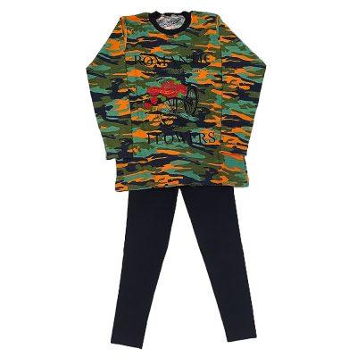 Μπλουζοφόρεμα romantic στρατιωτικό