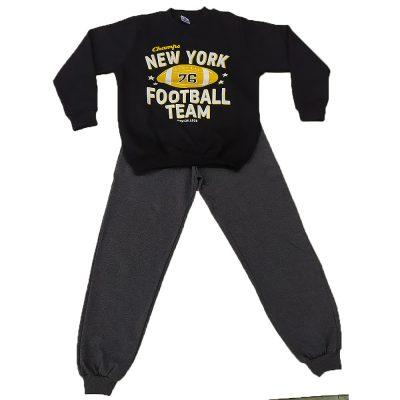 Φόρμα football team μαύρο-γκρι σκούρο