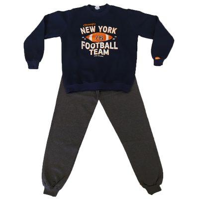 Φόρμα football team μπλε σκούρο(πορτοκαλί)