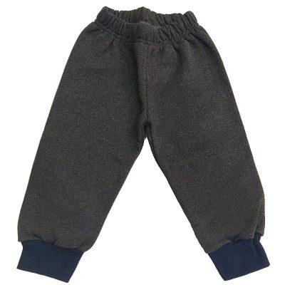 Παντελόνι γκρι σκούρο με λάστιχο