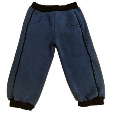 Παντελόνι φόρμας μπλε ραφ με ρίγα
