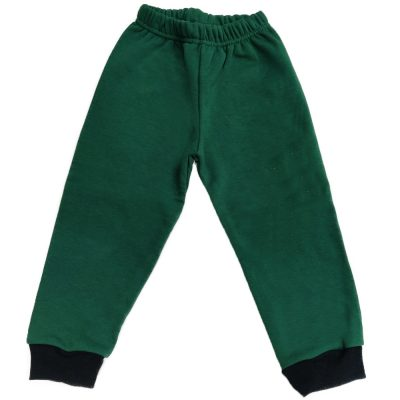 Παντελόνι φόρμας πράσινο με μαύρο λάστιχο