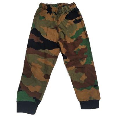 Παντελόνι φόρμας στρατιωτικό καφέ-χακί με λάστιχο