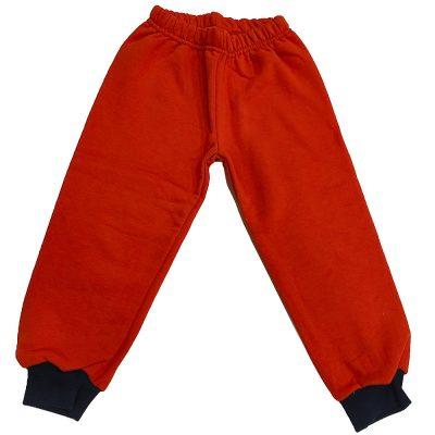 Παντελόνι φόρμας πορτοκαλί με σκούρο λάστιχο λάστιχο
