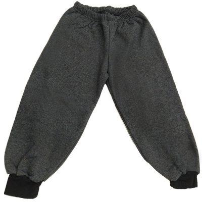Παντελόνι φόρμας γκρι σκούρο με σκούρο λάστιχο