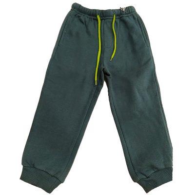 Παντελόνι φόρμας πράσινο με κορδόνι