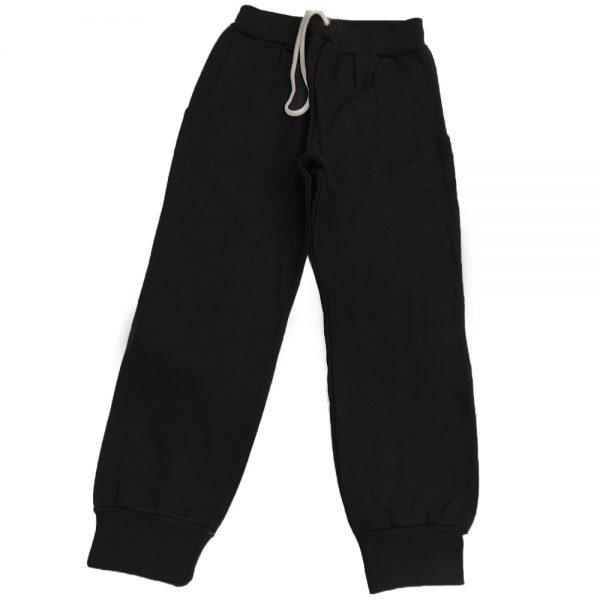 Παντελόνι φόρμας μαύρο με κορδόνι