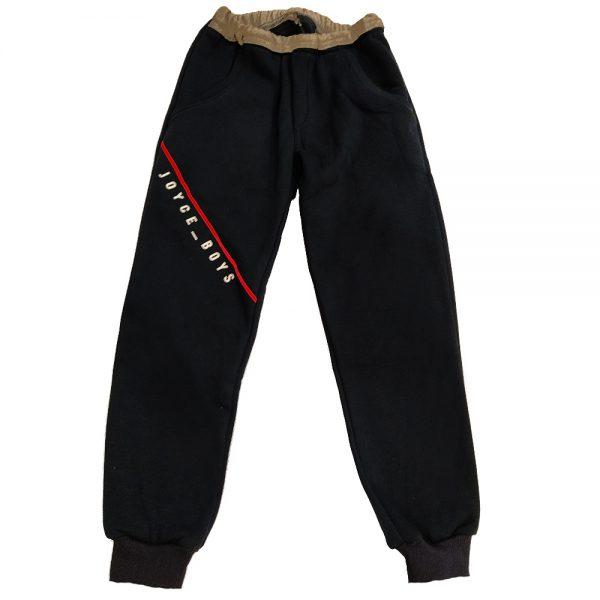 Παντελόνι φόρμας μαύρο-γκρι