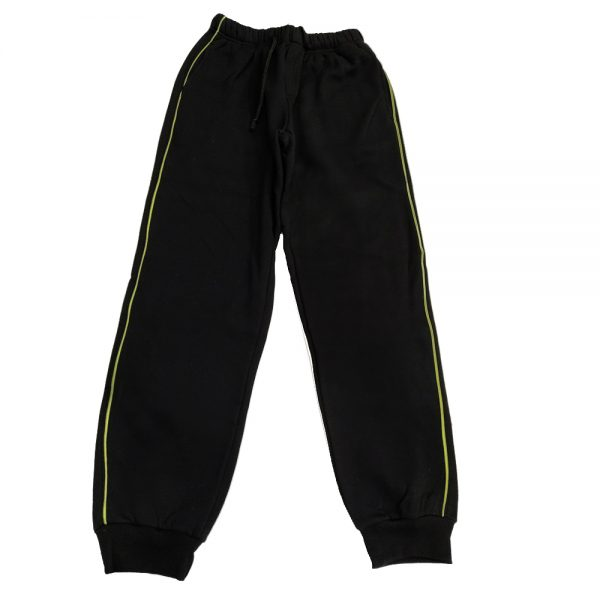 Παντελόνι φόρμας μαύρο με πράσινη ρίγα