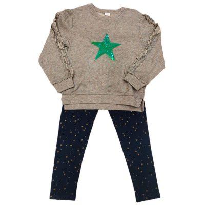Μπλουζοφόρεμα γκρι με πράσινο αστέρι