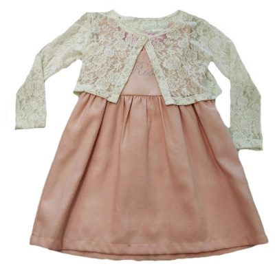 Φόρεμα ροζ με μπολεράκι