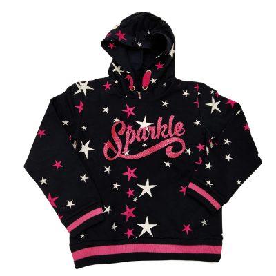 Μπλούζα φούτερ με αστέρια