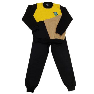 Φόρμα τρίχρωμη κίτρινο-μαύρο-μπεζ