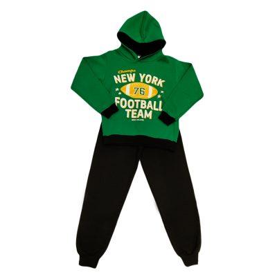 Φόρμα footaball team πράσινη κουκούλα