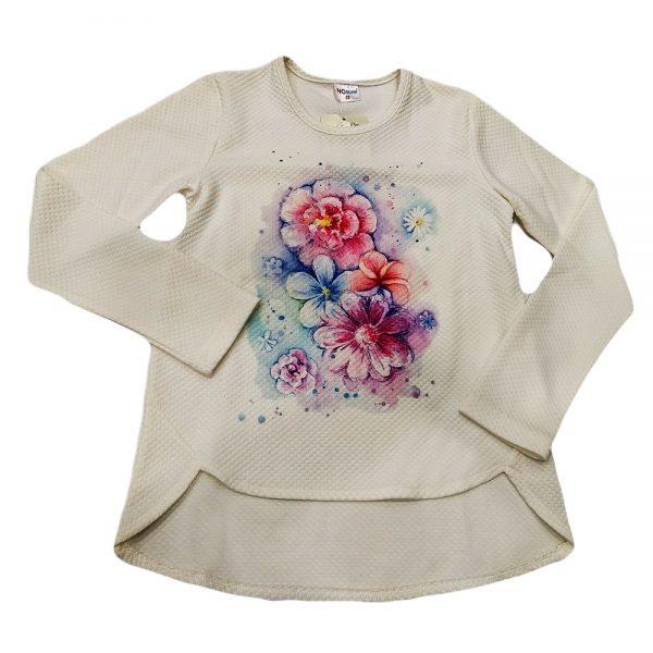 Μπλούζα με λουλούδια