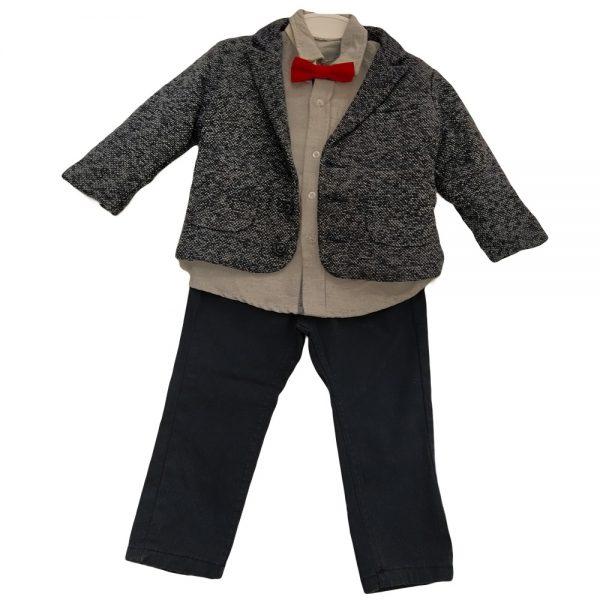 Κοστούμι με σακάκι μαλακό μπλε