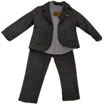 Κοστούμι γκρι σκούρο με παπιγιόν