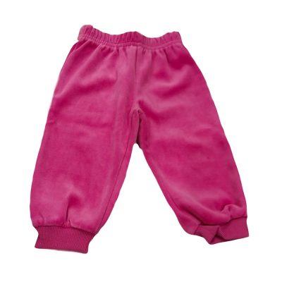 Παντελόνι φόρμας βελουτέ ροζ