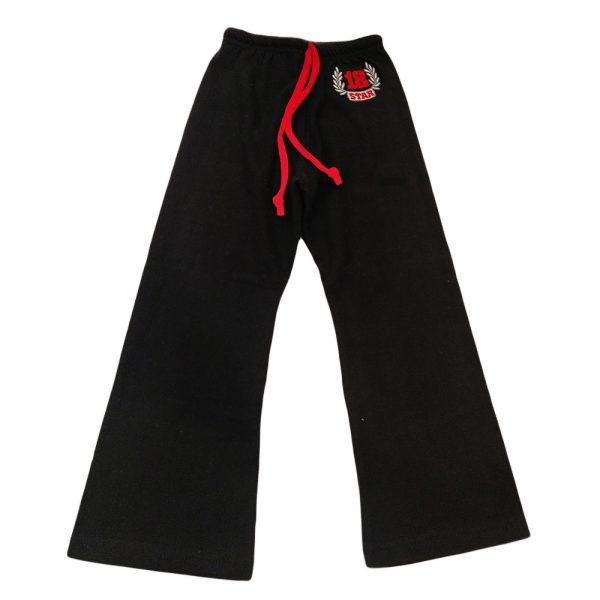 Παντελόνι φόρμας μαύρο με σχεδιάκι